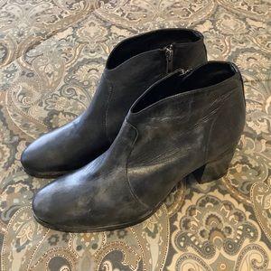 New Frye Nora Zip Short Metallic Black Boots 11 B